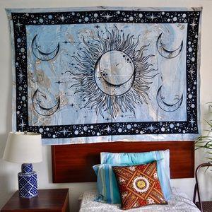 Sun moon tapestry, wall decor, wall hanging